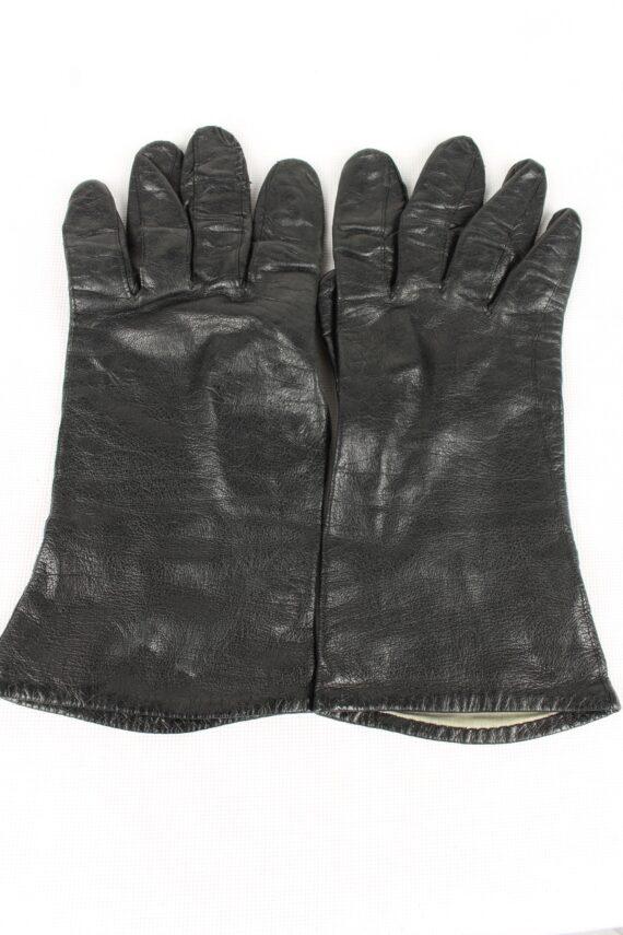 Vintage Womens Gloves 80s Black G164-0