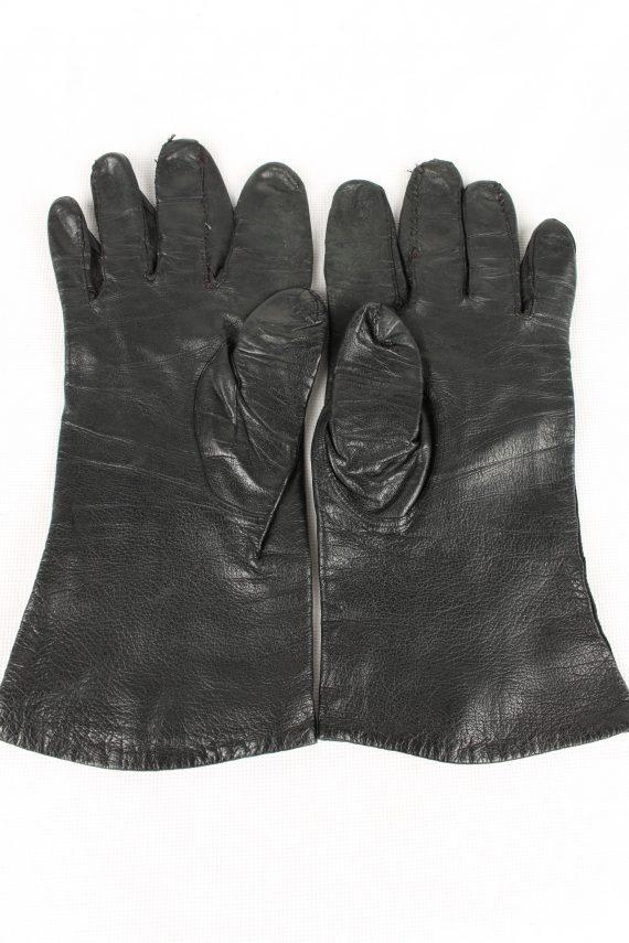 Vintage Womens Gloves 80s Black G164-146675