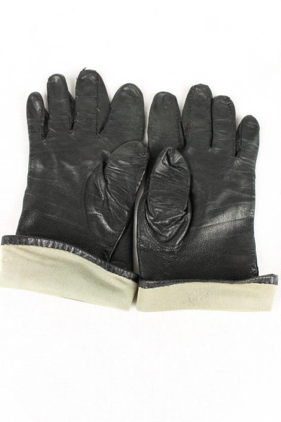 Vintage Womens Gloves 80s Black G164-146676