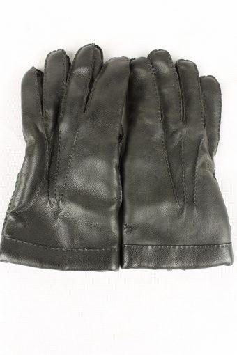 Vintage Mens Lined Gloves Size 80s 13 Black