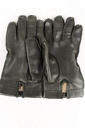 Vintage Mens Lined Gloves Size 80s 13 Black G172-146706