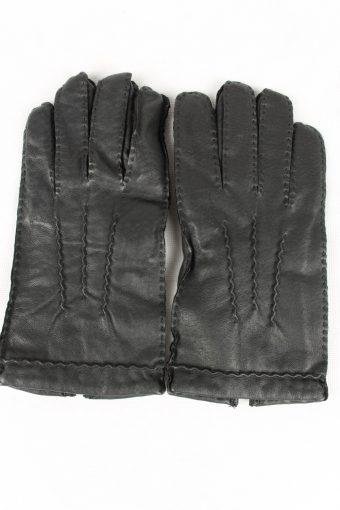 Vintage Mens Genuine Leather Gloves Size 90s 8.5 Black