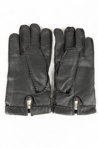 Vintage Mens Genuine Leather Gloves Size 90s 8.5 Black G173-146710