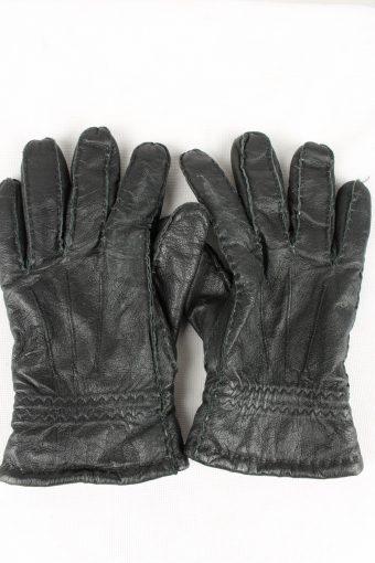 Vintage Mens Genuine Pig Nappa Leather Gloves 90s 9 Black