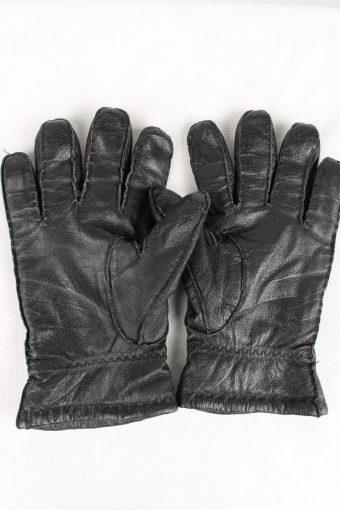 Vintage Mens Genuine Pig Nappa Leather Gloves 90s 9 Black G175-146718