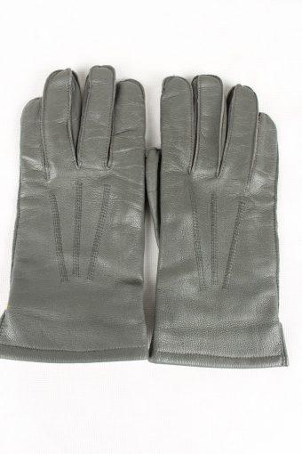 Vintage Mens Gloves 90s Size 9.5 Grey