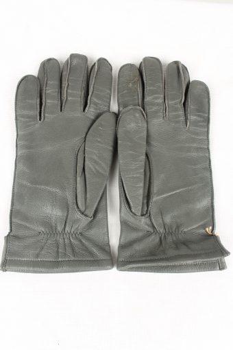 Vintage Mens Gloves 90s Size 9.5 Grey G176-146722