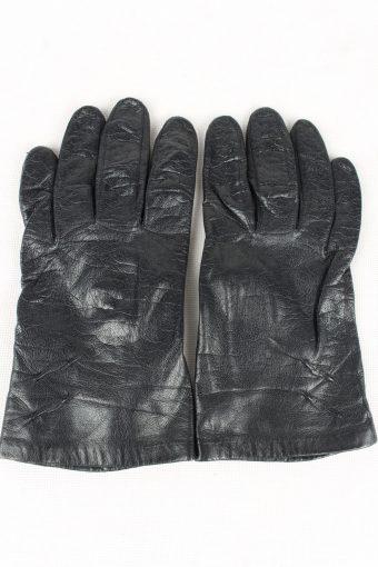 Vintage Womens Silk Lined Gloves 90s Black