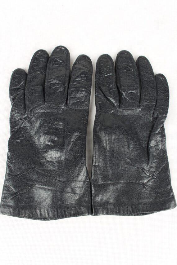 Vintage Womens Silk Lined Gloves 90s Black G186-0