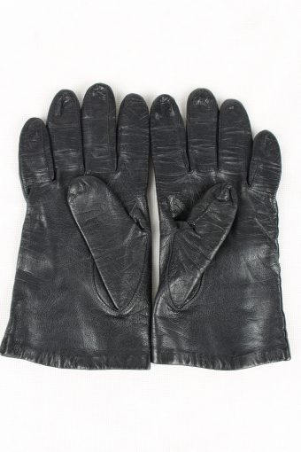 Vintage Womens Silk Lined Gloves 90s Black G186-146762