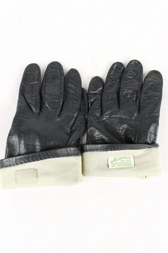 Vintage Womens Silk Lined Gloves 90s Black G186-146763