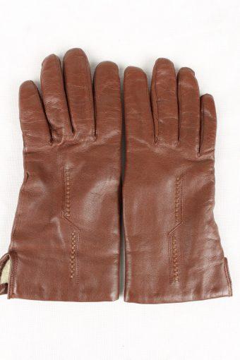 Vintage Womens Wool Lined Gloves 90s Brown