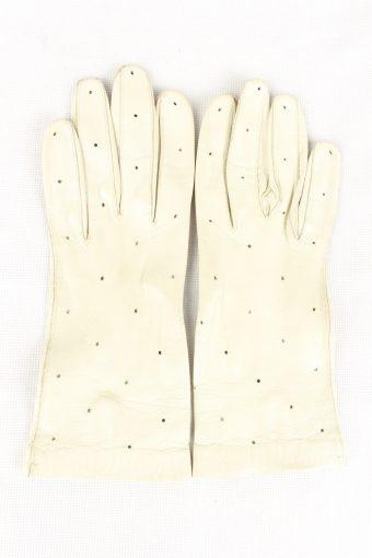 Vintage Womens Gloves 90s White