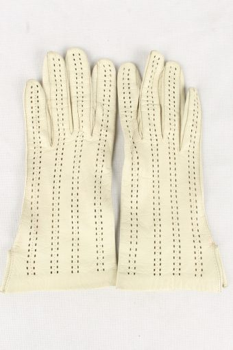 Vintage Womens Gloves 90s Size 6.5 White