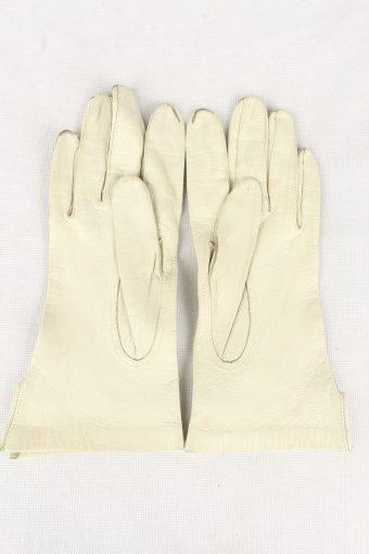 Vintage Womens Gloves 90s Size 6.5 White G199-146814