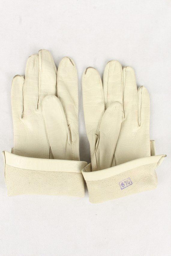 Vintage Womens Gloves 90s Size 6.5 White G199-146815