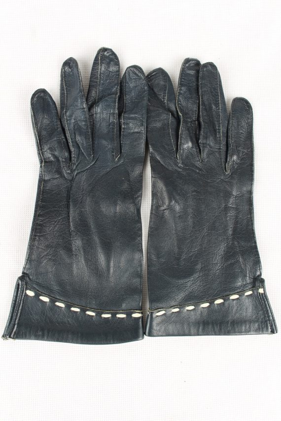 Vintage Womens Gloves 90s Size 6.25 Navy G200-0