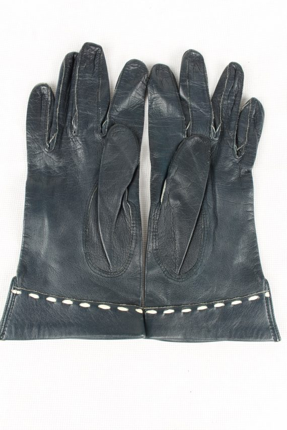 Vintage Womens Gloves 90s Size 6.25 Navy G200-146818