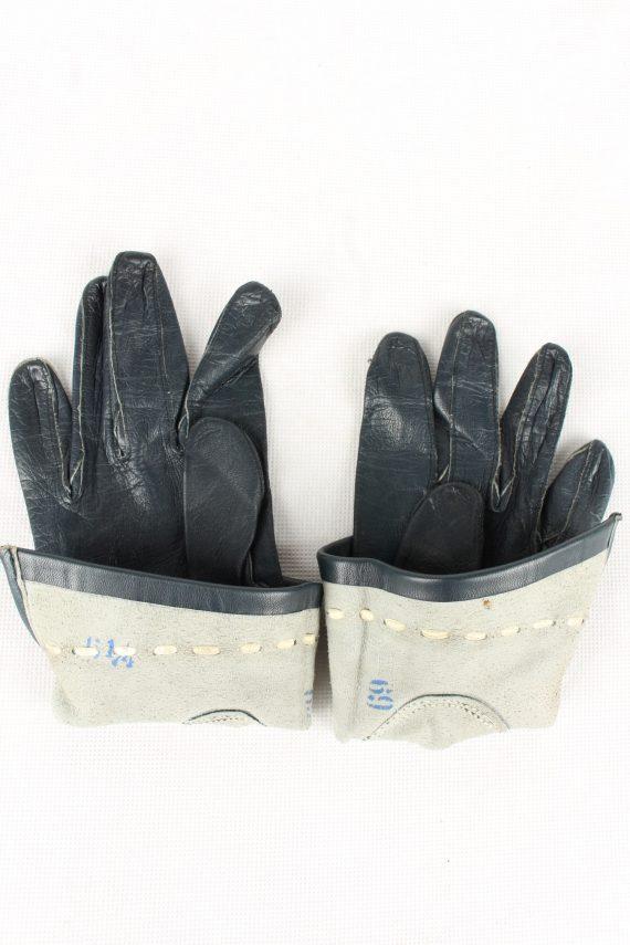 Vintage Womens Gloves 90s Size 6.25 Navy G200-146819