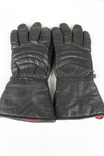 Vintage Mens Motorcycle Gloves Size 80s M Black