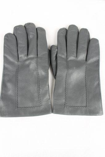 Vintage Mens Lined Gloves Size 80s 10.5 Grey
