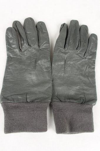 Vintage Mens Lined Gloves Size 80s 10 Grey