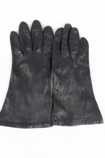 Vintage Womens Gloves Size 80s 7.5 Navy