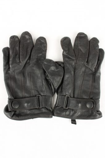 Vintage Womens Genuine Sheep Leather Gloves Size 80s S Black