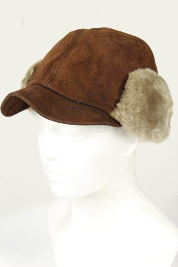 Vintage Unisex Russian Style Winter Hat 90s Brown HAT1522-0
