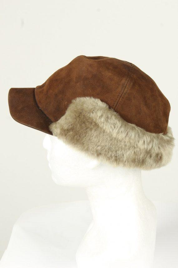 Vintage Unisex Russian Style Winter Hat 90s Brown HAT1522-145372