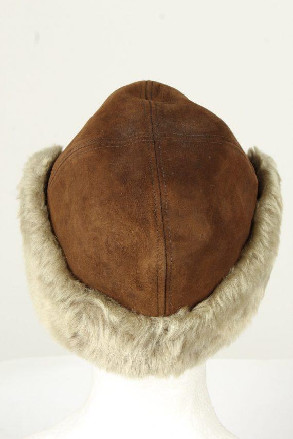 Vintage Unisex Russian Style Winter Hat 90s Brown HAT1522-145373