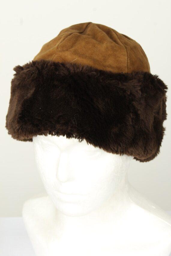 Vintage Unisex Russian Style Winter Hat 90s Brown HAT1542-0
