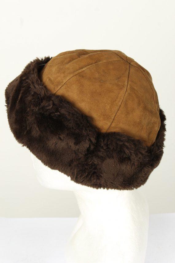 Vintage Unisex Russian Style Winter Hat 90s Brown HAT1542-145675