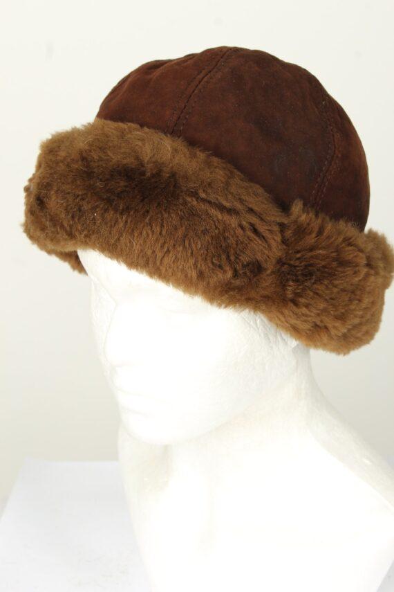 Vintage Unisex Russian Style Winter Hat 90s Brown HAT1549-0
