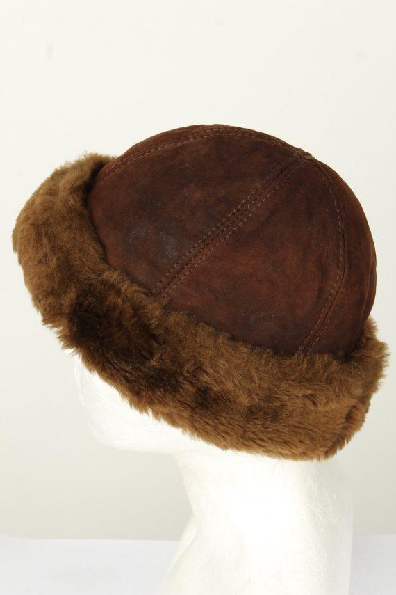 Vintage Unisex Russian Style Winter Hat 90s Brown HAT1549-145703