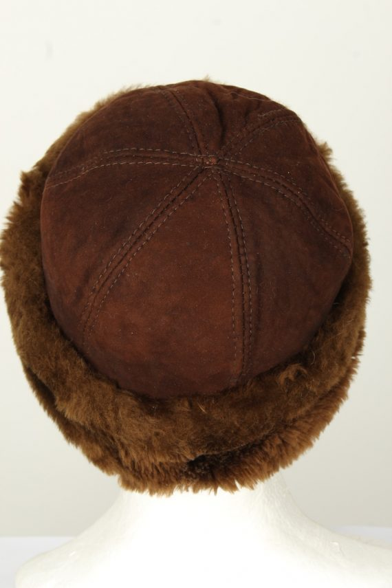 Vintage Unisex Russian Style Winter Hat 90s Brown HAT1549-145704