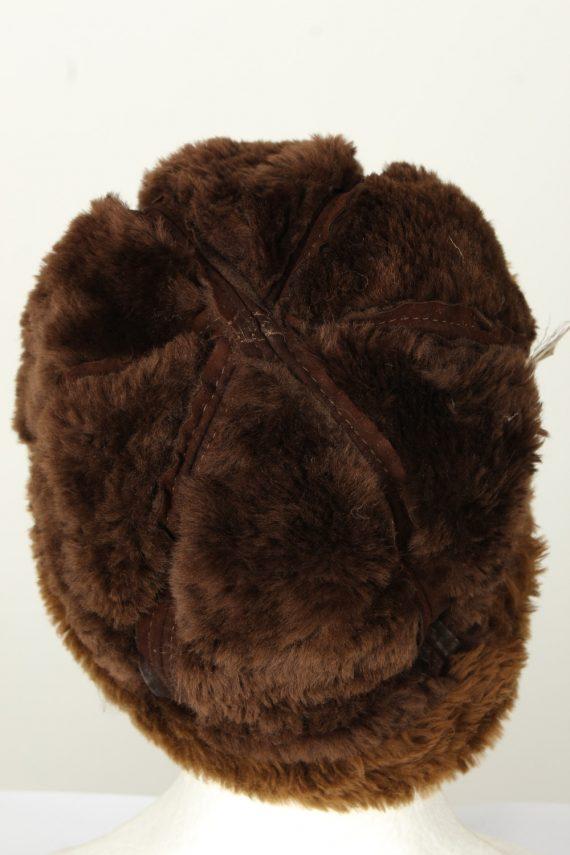 Vintage Unisex Russian Style Winter Hat 90s Brown HAT1549-145705