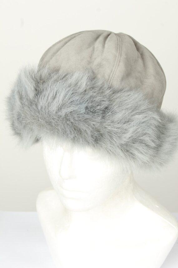 Vintage Unisex Russian Style Winter Hat 80s Grey HAT1554-0