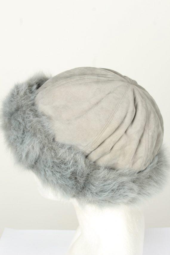 Vintage Unisex Russian Style Winter Hat 80s Grey HAT1554-145757