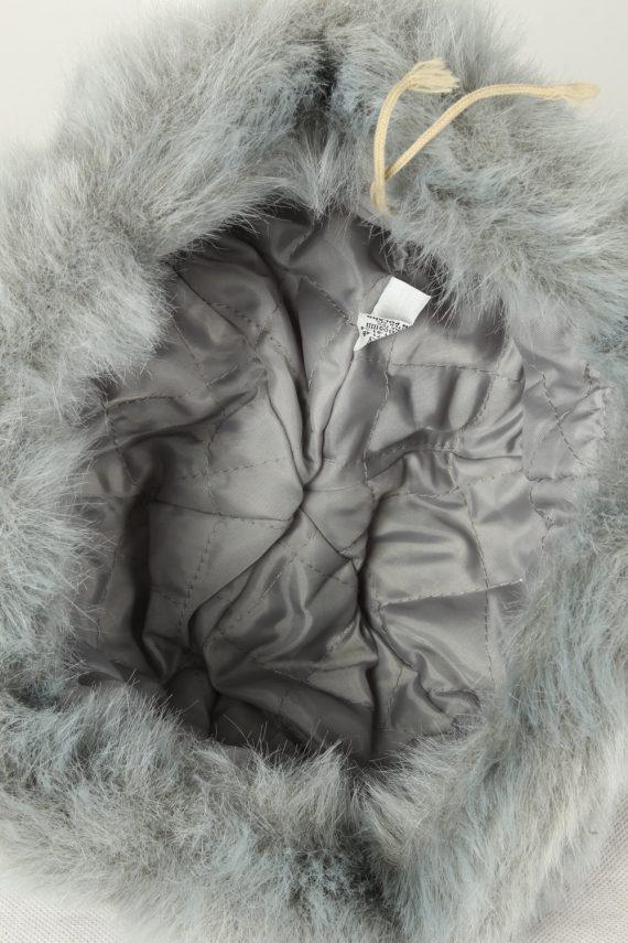 Vintage Unisex Russian Style Winter Hat 80s Grey HAT1554-145759