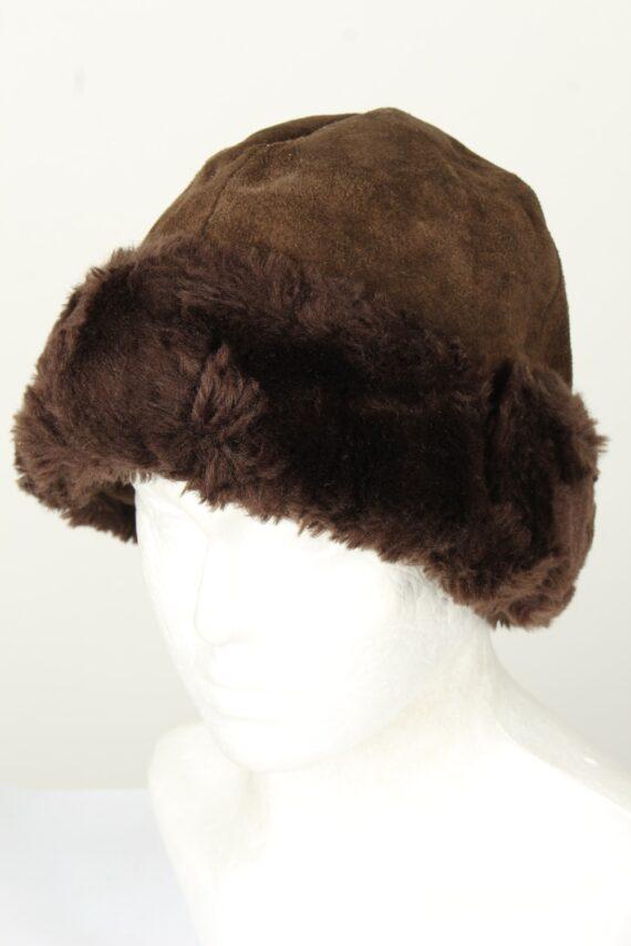 Vintage Unisex Russian Style Winter Hat 80s Brown HAT1558-0
