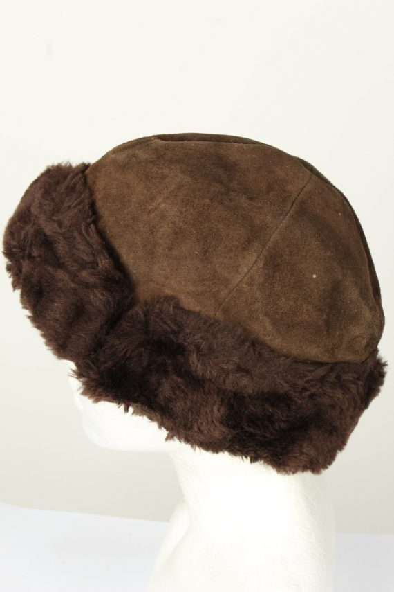 Vintage Unisex Russian Style Winter Hat 80s Brown HAT1558-145773