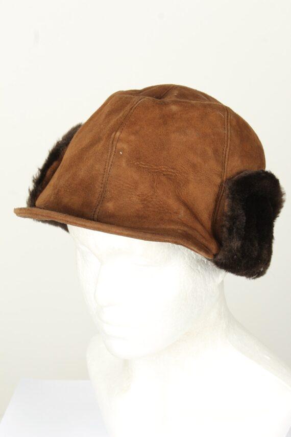 Vintage Unisex Russian Style Winter Hat 80s Brown HAT1570-0