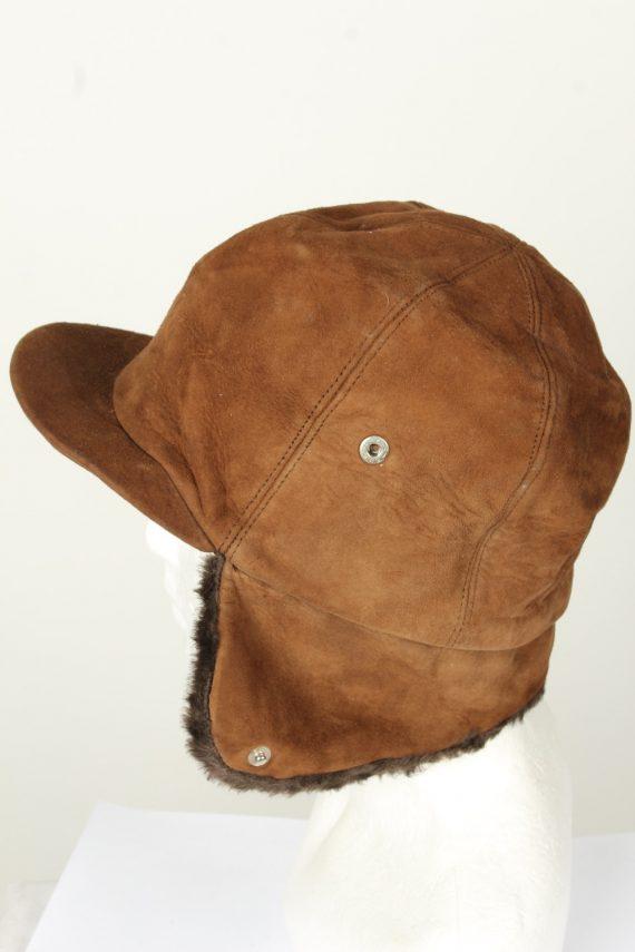 Vintage Unisex Russian Style Winter Hat 80s Brown HAT1570-145821