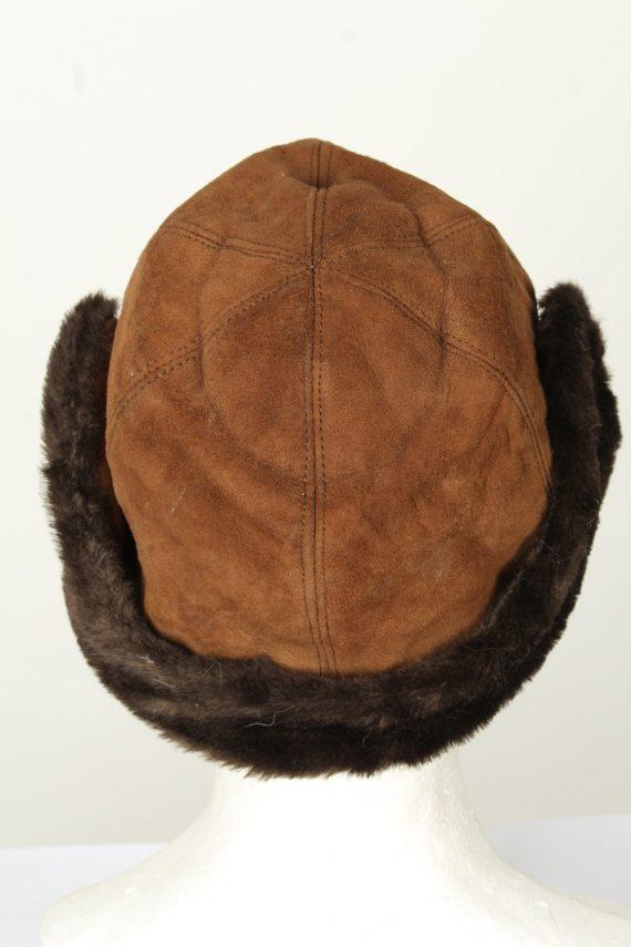 Vintage Unisex Russian Style Winter Hat 80s Brown HAT1570-145822