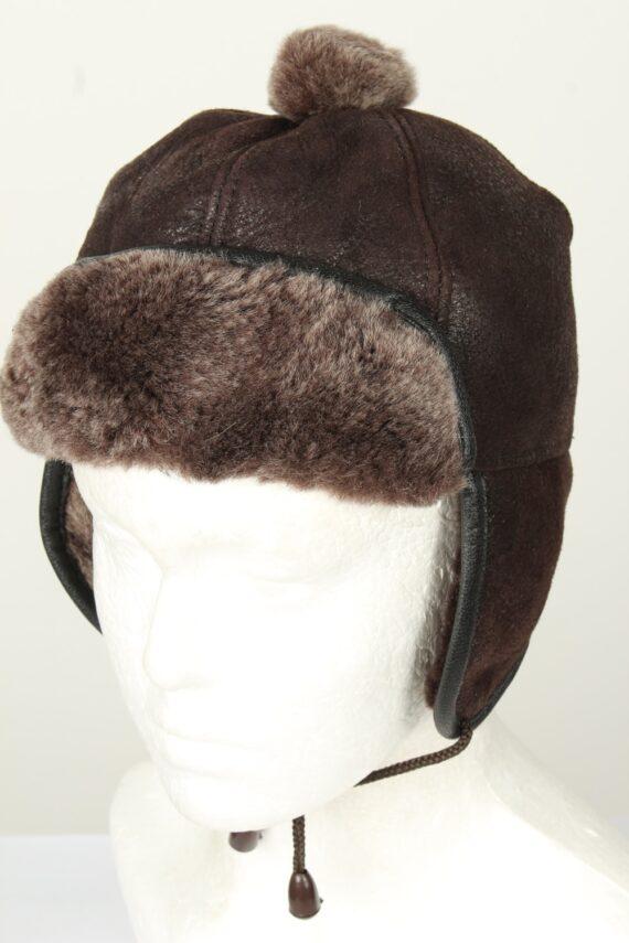 Vintage Unisex Russian Style Winter Hat Chapka 70s Brown HAT1578-0