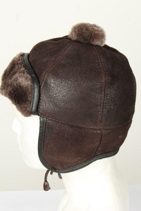 Vintage Unisex Russian Style Winter Hat Chapka 70s Brown HAT1578-145853