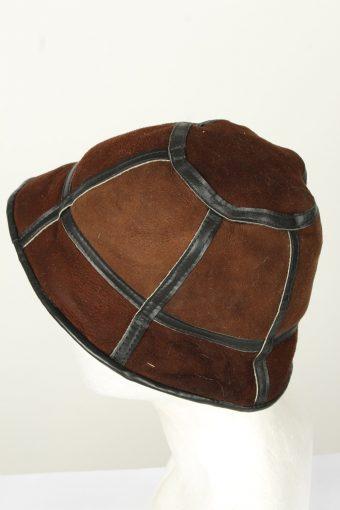 Vintage Unisex Russian Style Winter Hat 70s Brown HAT1579-145857