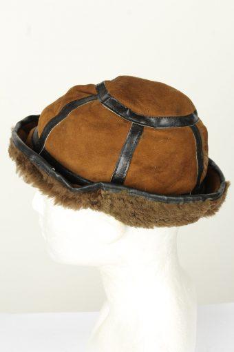 Vintage Unisex Russian Style Winter Hat 70s Brown HAT1582-145869