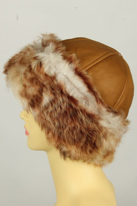 Vintage Womens Canadian Style Winter Hat 90s Brown HAT1596-145928